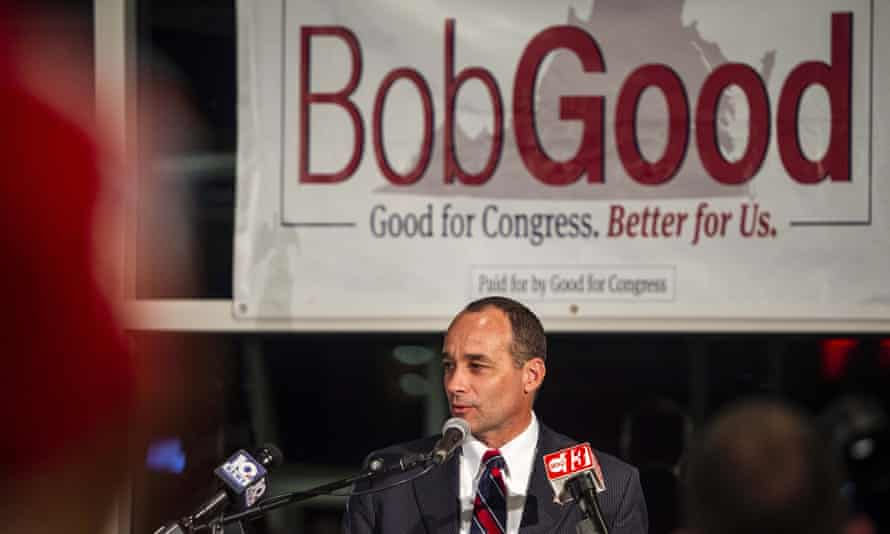 Bob Good at a watch party at Liberty University in Lynchburg, 3 November 2020.