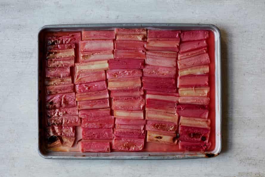 Anna Jones' roast rhubarb.