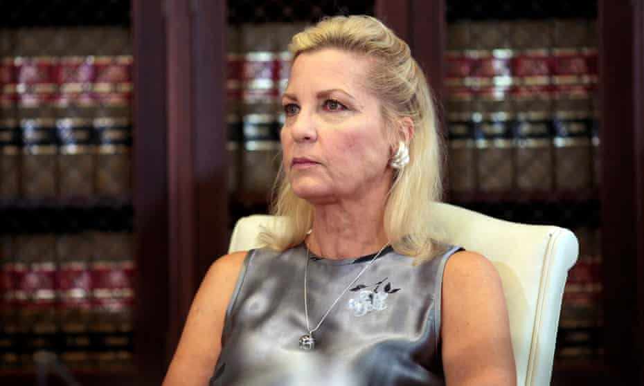 Robin at a press conference in Los Angeles on 15 August. Although the statute of limitations has expired on her case, she could testify in a future trial.