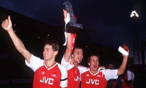 Tony Adams, Steve Bould and Paul Merson