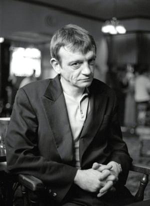 Mark E Smith in a pub in Notting Hill, London, 1997.