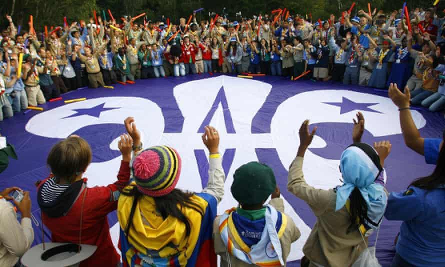 A Scouts celebration in Poole, Dorset