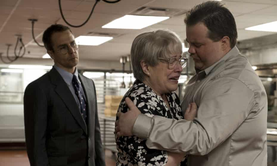 Bates with Sam Rockwell and Paul Walter Hauser in Richard Jewell.