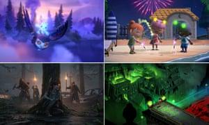 Sangat indah ... searah jarum jam dari kiri atas: Ori and the Will of the Wisps, Animal Crossing: New Horizons, Hades, The Last of Us Part II.