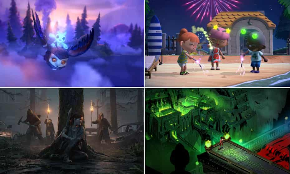 Stunningly beautiful ... clockwise from top left: Ori and the Will of the Wisps, Animal Crossing: New Horizons, Hades, The Last of Us Part II.