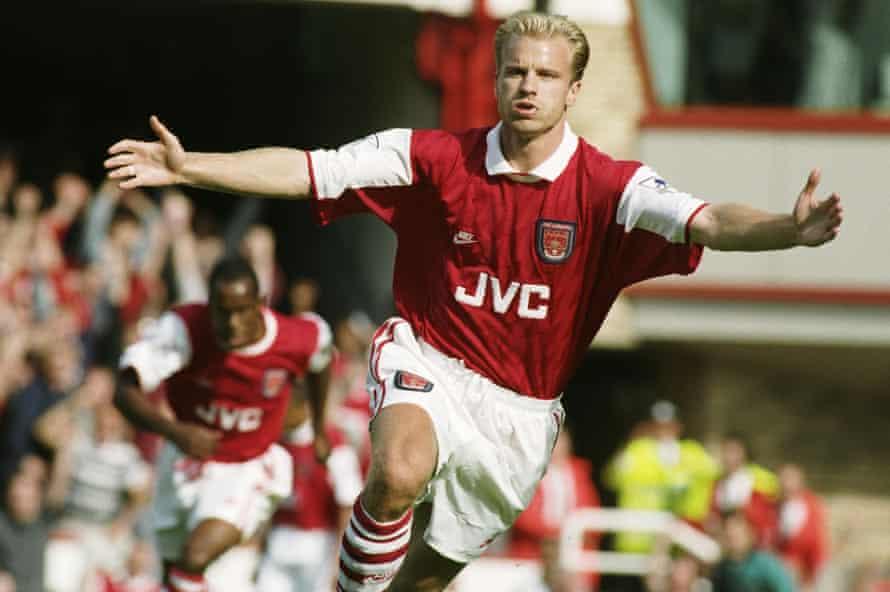 Dennis Bergkamp in action for Arsenal in 1995.