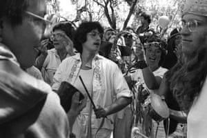 Sistah Boom, a San Francisco marching band, at the Pride parade, June 1982.