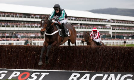 Nico de Boinville rides Altior to victory in the Novices' Chase at this year's Cheltenham Festival. The two-year-old was the favourite for next month's Tingle Creek Chase at Sandown.