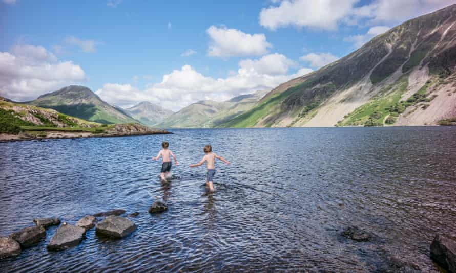 Wast Water in the Lake District of England.