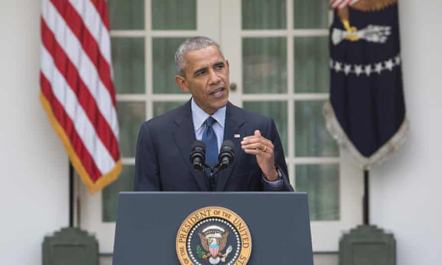 Barack Obama: 'No nation, not even one as powerful as ours, can solve this on its own – we have to do this together.'