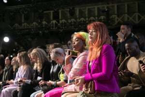 The crowd watch the models during the MBFW Bianca Spender show