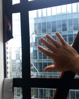 A large piece of glass cracked on the 36th floor of the 58-story Millennium Tower building in San Francisco.
