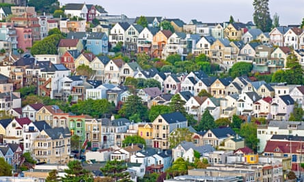 Victorian houses in San Francisco. 'This area may have the greatest concentration of wealth in human history,' said the former mayor of nearby Mountain View.