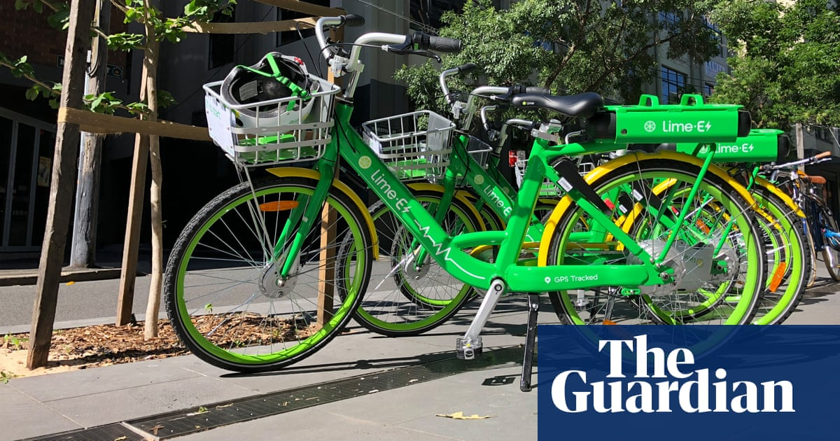 Electric bike-sharing company Lime launches in UK | UK news