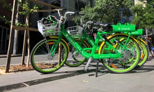 Lime electric bicycles in Sydney, Australia