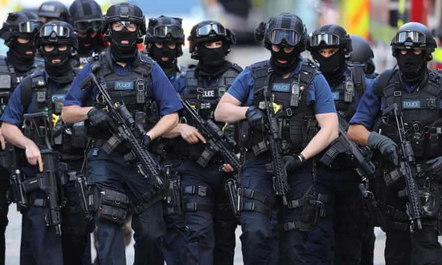 Counter-terrorism officers after the London Bridge terrorist attack on 4 June.