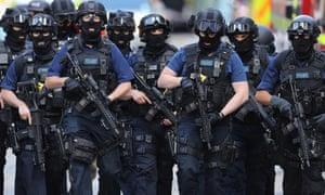 Counter-terrorism police near the scene of the London Bridge attack