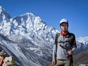 Thomas Becker, who teaches law at Harvard, climbing Everest