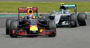 Verstappen stays ahead of Rosberg.