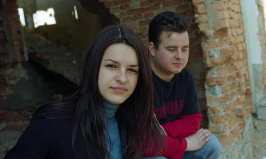The children of Ferida Osmanovic, Fatima and Damir, return to their house in Jezero, Bosnia, in 2015.