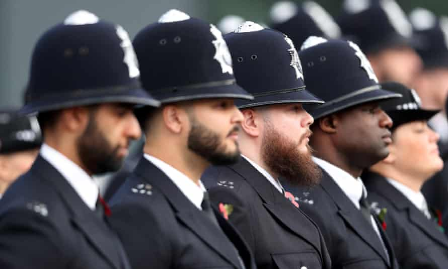 A passing out parade for police recruits.