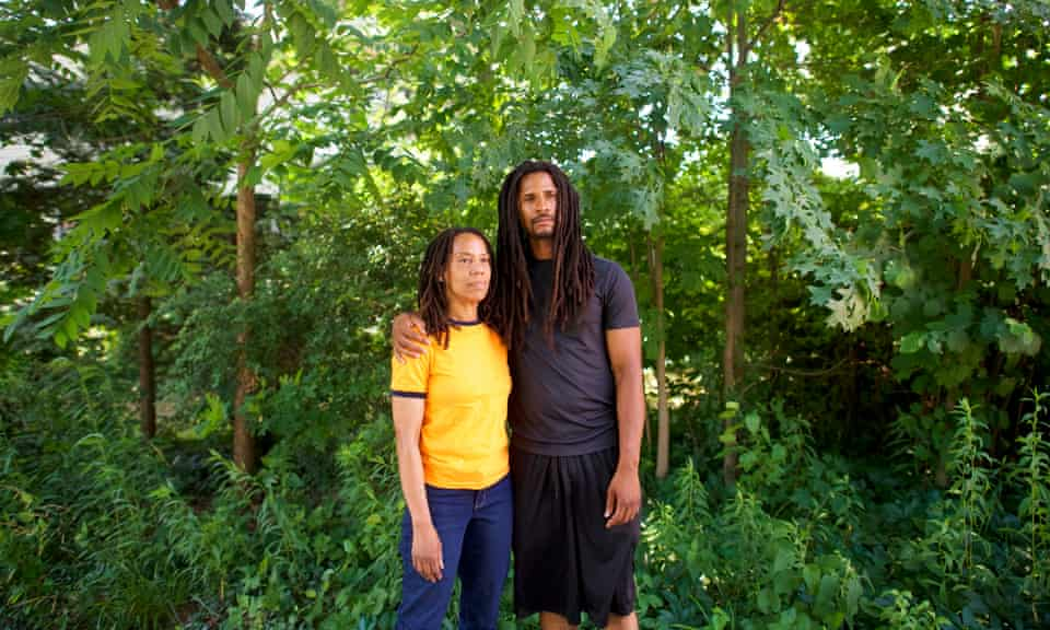 Debbie Africa, one of the radicals who was released a week ago after 40 years, and her son, Mike Africa.