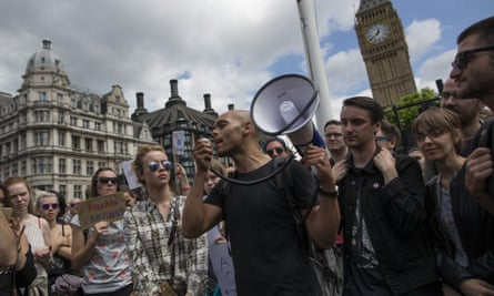 Young people protesting against Brexit in 2016