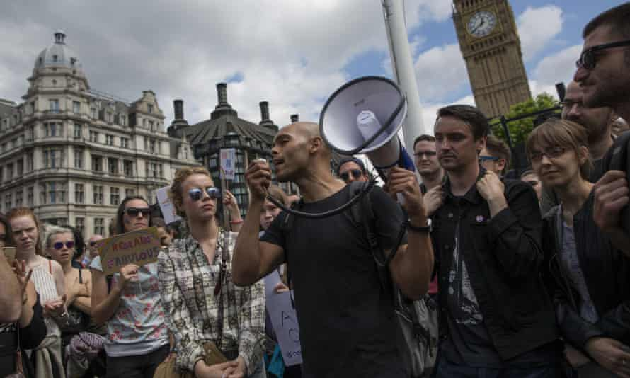 Young people protest on Parliament Square
