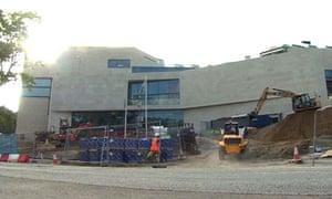 Building work at Pontio Centre at Bangor University.