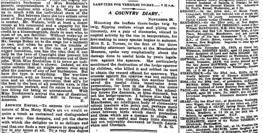 The Guardian, 25 November 1919.