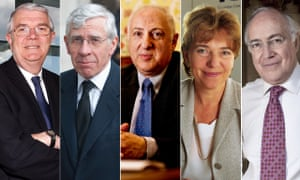 Lord Burns, Jack Straw, Lord Carlile, Dame Patricia Hodgson and Lord Howard