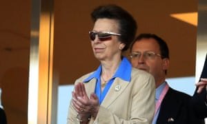 Princess Anne at a 2019 Rugby World Cup match between Scotland and Russia