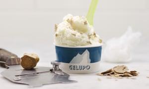 White truffle gelato from Gelupo, Soho, London.