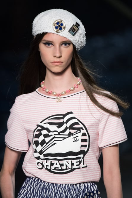 Coco on holiday: a model displays Chanel sea-inspired collection.