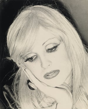 A photograph of Candy Darling, an actress who came to prominence in Andy Warhol's 1968 film Flesh