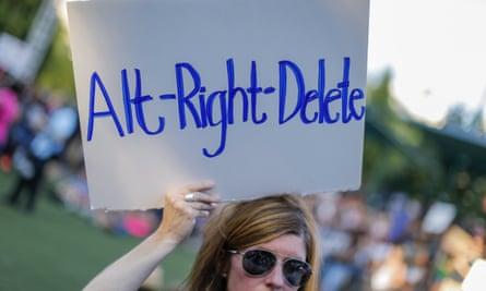 A march against white supremacy in Atlanta, Georgia.