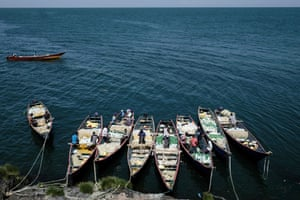 Fisherman on their boats