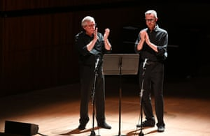 David Hockings and Timothy Palmer perform Steve Reich's Clapping Music at the Royal Festival Hall.