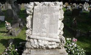 The grave where 15 children were buried at East London Cemetery.