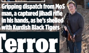 How the Mail on Sunday portrayed Mark Nicol alongside his article.