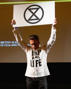Packham declares his support for Extinction Rebellion as he delivers the annual Bafta television lecture in January