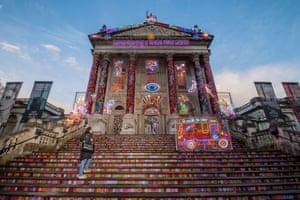 London, UK  Remembering a Brave New World, a Tate Britain winter commission by the British artist Chila Kumari Burman