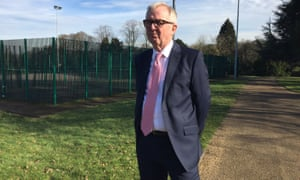 Ian Austin talks to the media in Priory Park, Dudley, after quitting the Labour party.