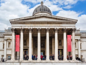 The National Gallery in Trafalgar Square, London.