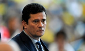 Sérgio Moro waits for the start of the Copa America football tournament final match against Peru at Maracana Stadium in Rio de Janeiro, Brazil, on 7 July 2019.