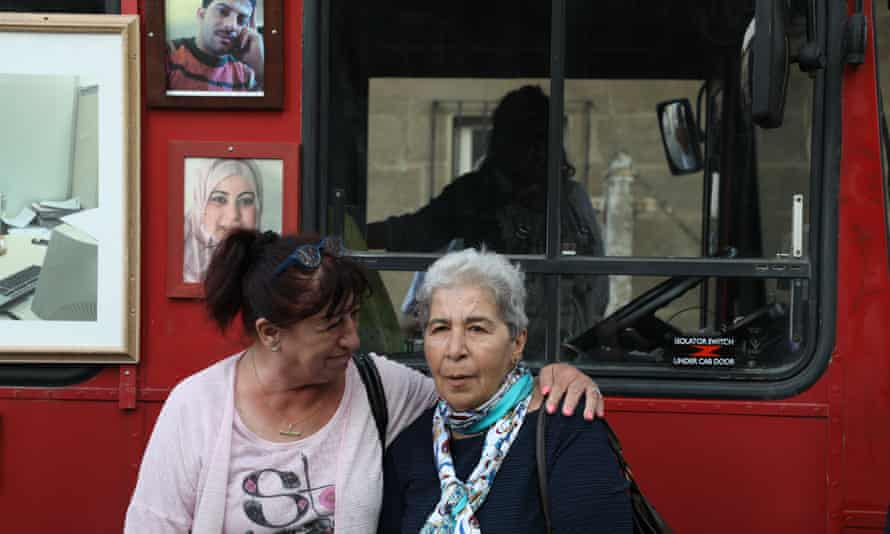 Monika Schneider, left, who was imprisoned in 1983 on suspicion of trying to flee to the west, and Fadwa Mahmoud, founder of Families for Freedom.