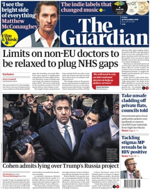 Guardian front page, Friday 30 November 2018