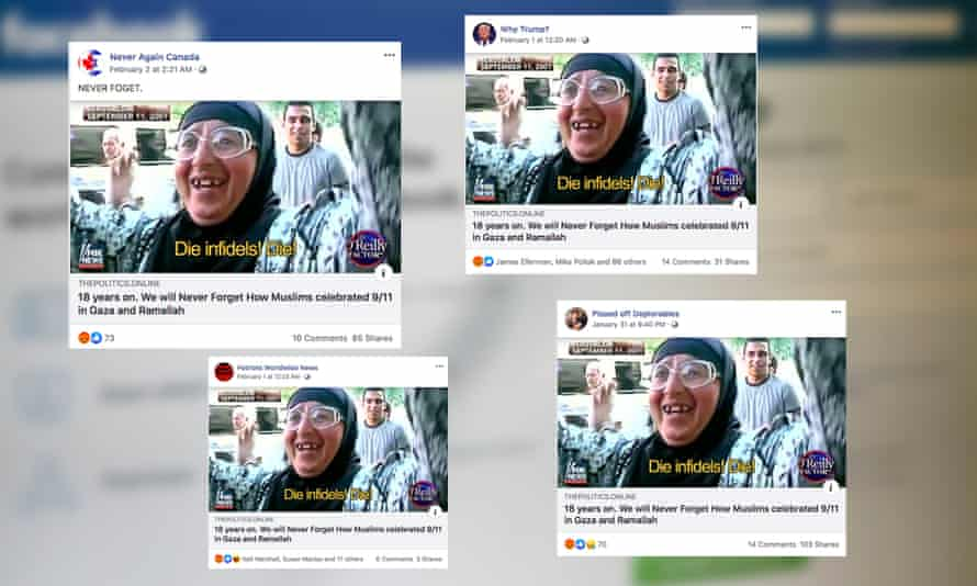 Coordinated Facebook posts seeking to exaggerate the scale of celebrations in the aftermath of the 9/11 terrorist attacks.