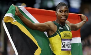 South Africa's Caster Semenya after finishing in second place in the women's 800-meter final at the 2012 Summer Olympics in London.