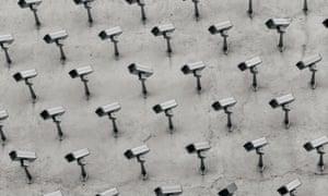 Surveillance cameras.